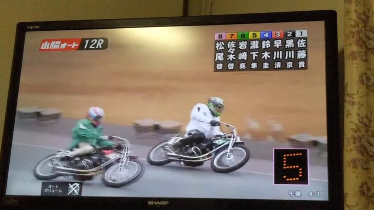 小説家がオートレースを実況してみた 12/22 山陽12R G1スピード王決定戦 優勝戦