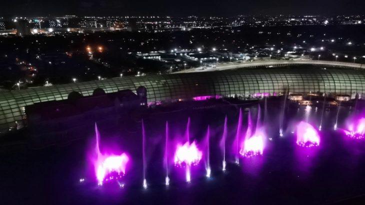 オカダマニラ15連泊 最上階からの噴水ショー(フィリピンカジノで1万5千円スタートクラップス稼働チャレンジ#4)