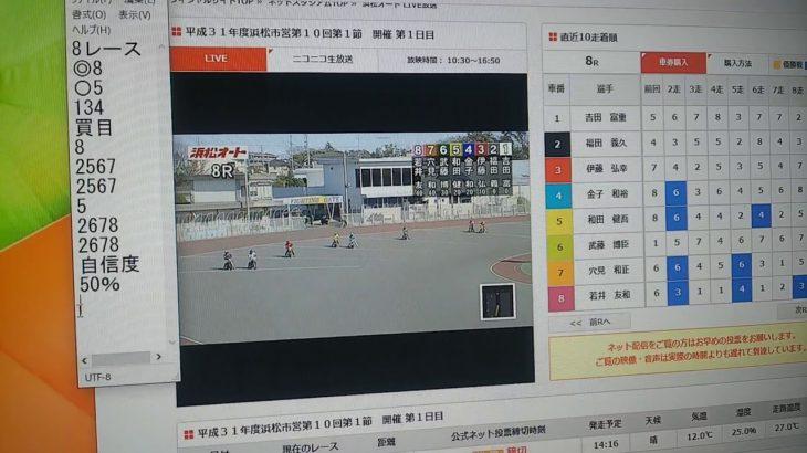 2月27日浜松オートレース8レース的中