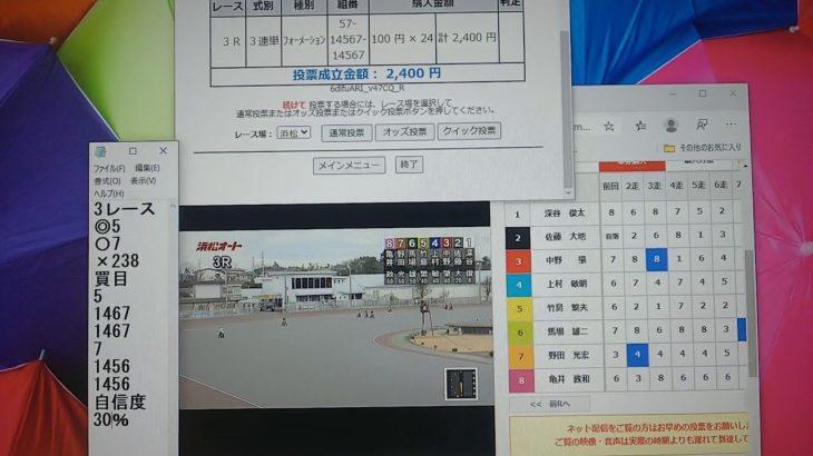 2月28日浜松オートレース3レース