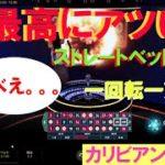 #60【オンラインカジノ ルーレット】ストレートベット検証!<一回転1万円(1か所千円)ベット>