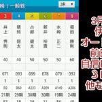 3月28日伊勢崎オートレース 前日予想です。 あくまでも参考にお願いします。