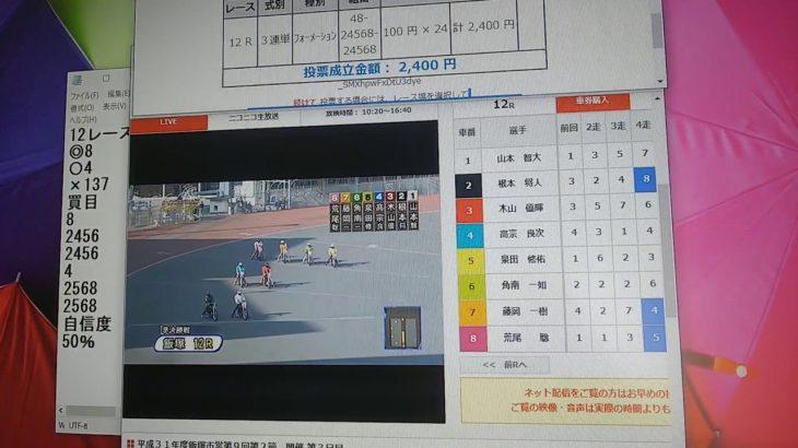 3月1日浜松オートレース12レース的中