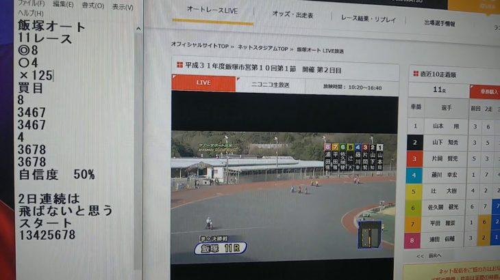 3月13日飯塚オートレース11レース的中