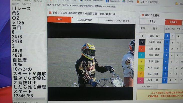 3月17日伊勢崎オートレース11レース