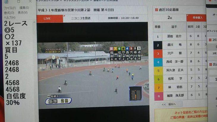 3月3日飯塚オートレース2レース的中