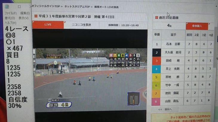 3月3日飯塚オートレース4レース