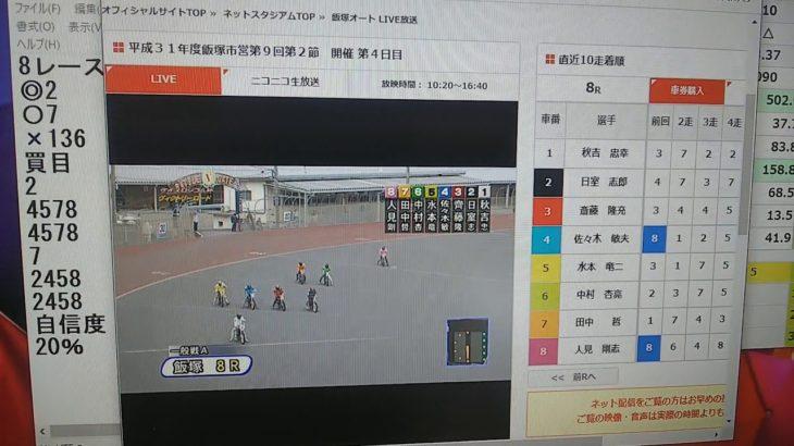 3月3日飯塚オートレース8レース