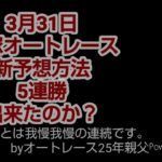 3月31日 飯塚オートレース 。投票、結果。新予想方法に変えて5連勝出来たのか?