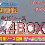 【ボートレース・競艇】お久しぶり!江戸川全12レース 4BOX勝負!