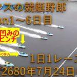 【競艇】【ボートレース】1日1レース限定。トーマスの競艇野郎Season1~6日目。鳴門SG 7R、1号艇、天下の白井英治選手から買うも6号艇の凹みのせいで大ピンチ編。